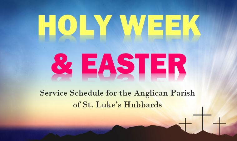 St. Luke's Parish Holy Week and Easter Services